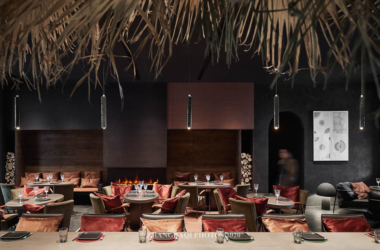 餐厅的全景